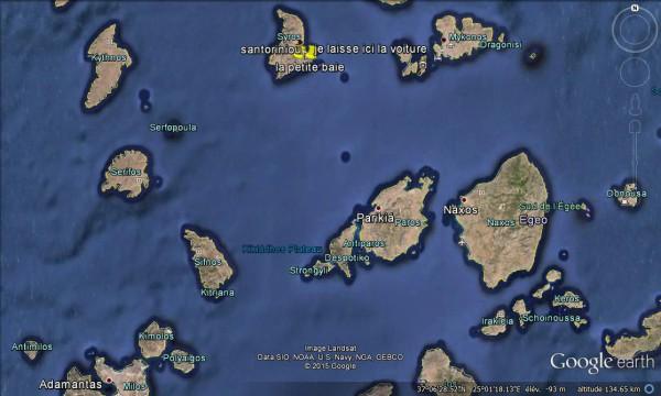 Les Cyclades depuis la petite baie