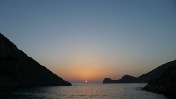 perfection : le priemr jour d'été, le soleil me quitte en plein milieu de la baie